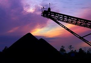 Coal sunset