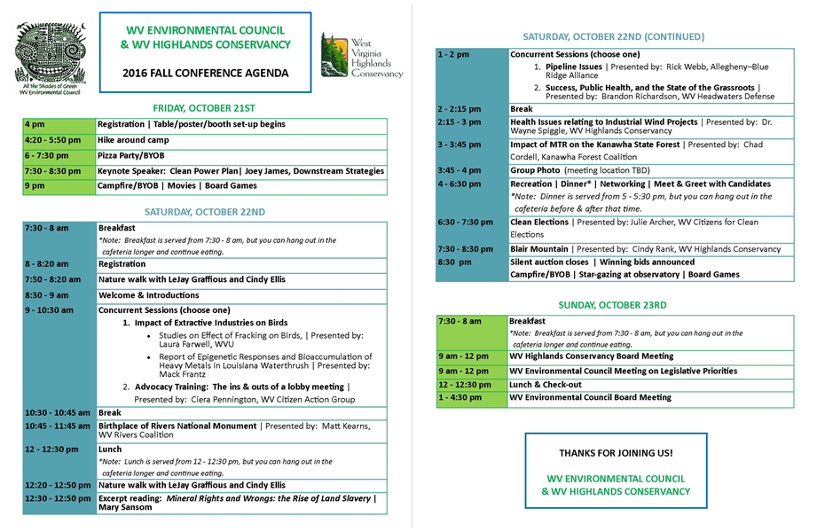 wvec-wvhc-2016-fall-conference-agenda-combined-final